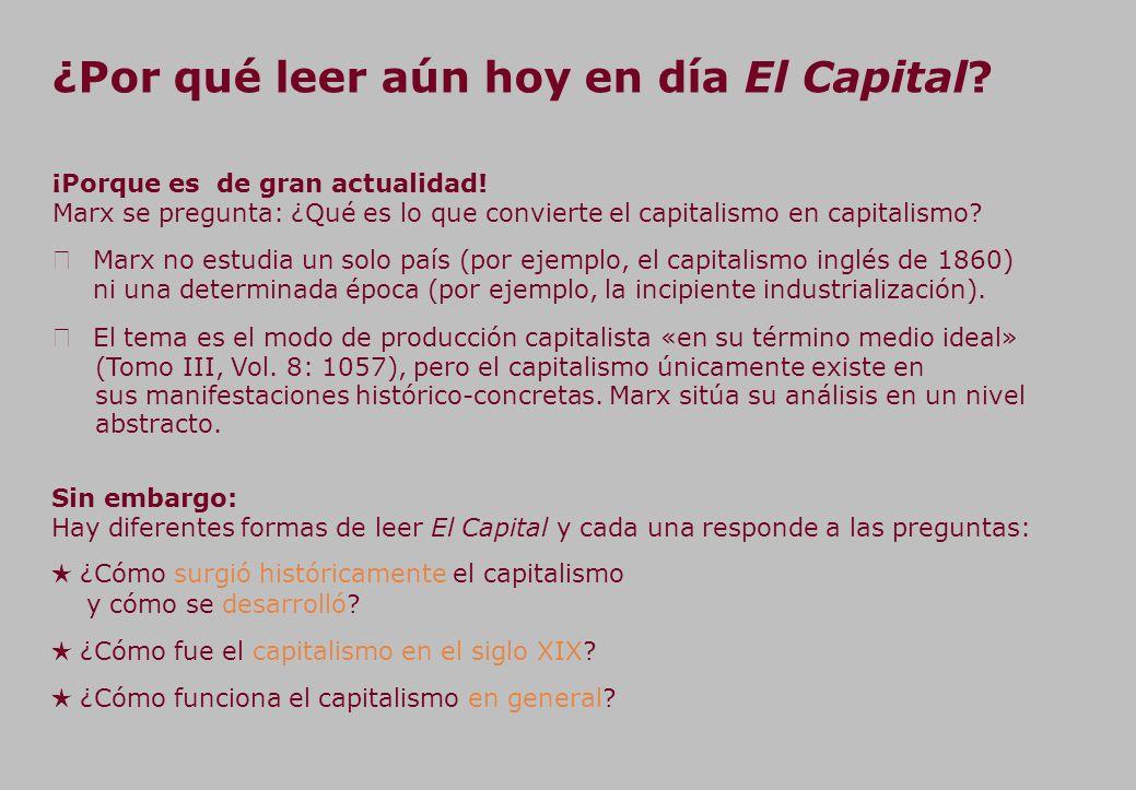 ¿Por qué leer aún hoy en día El Capital.