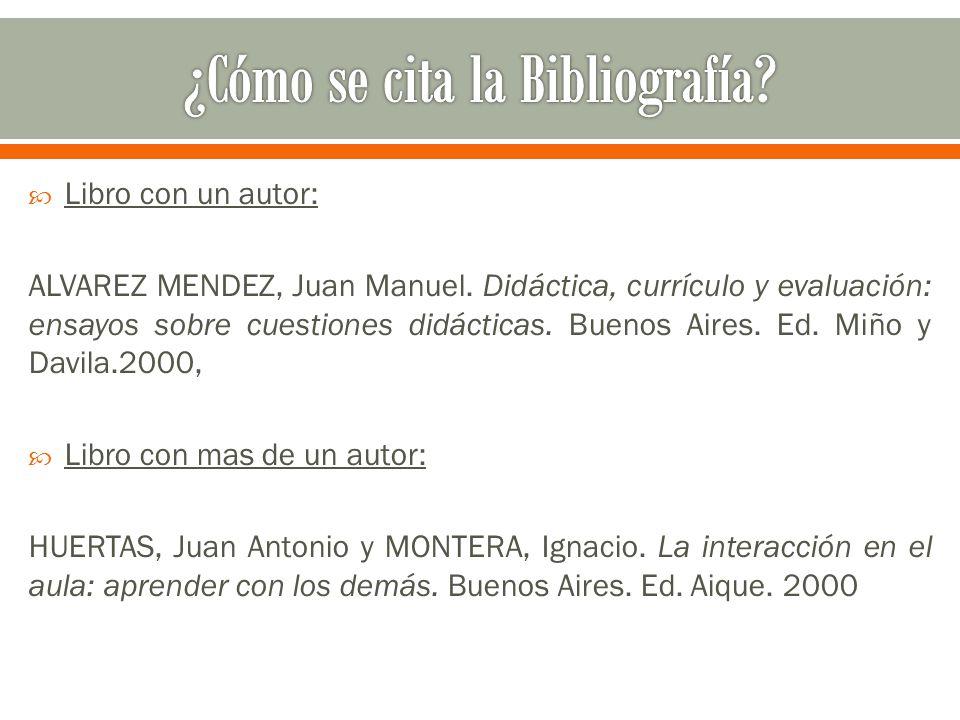  Libro con un autor: ALVAREZ MENDEZ, Juan Manuel.