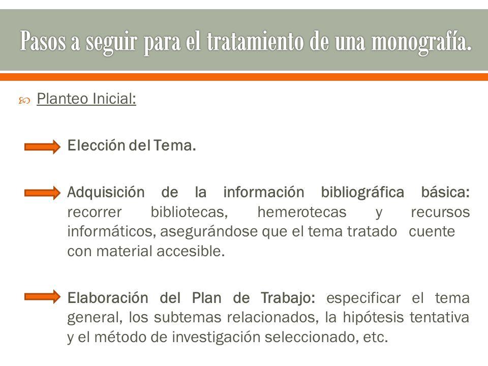  Planteo Inicial: Elección del Tema.