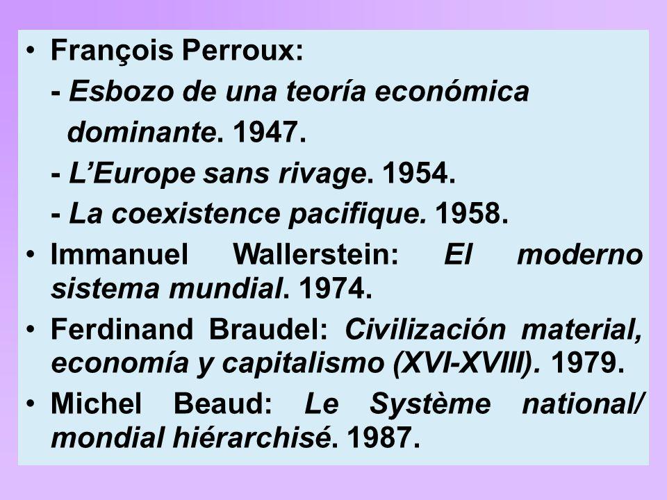 François Perroux: - Esbozo de una teoría económica dominante.