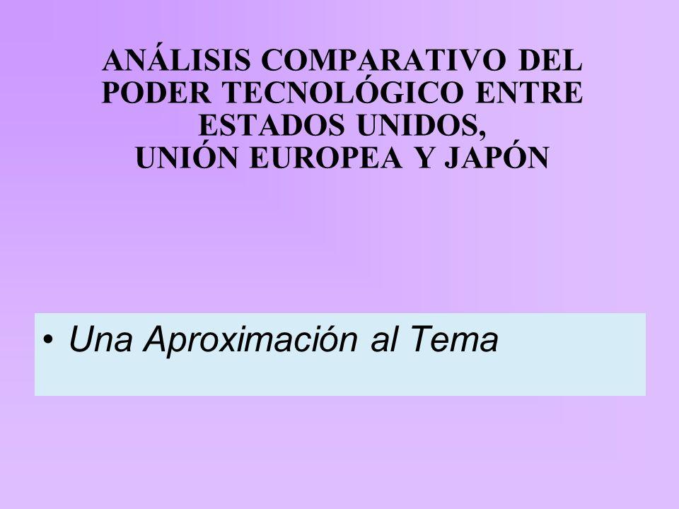 ANÁLISIS COMPARATIVO DEL PODER TECNOLÓGICO ENTRE ESTADOS UNIDOS, UNIÓN EUROPEA Y JAPÓN Una Aproximación al Tema