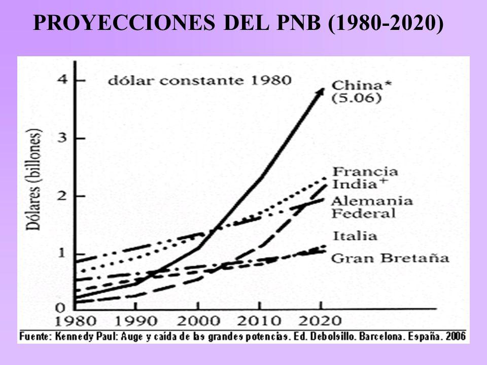 PROYECCIONES DEL PNB (1980-2020)