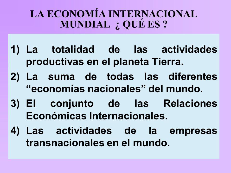 LA ECONOMÍA INTERNACIONAL MUNDIAL ¿ QUÉ ES .