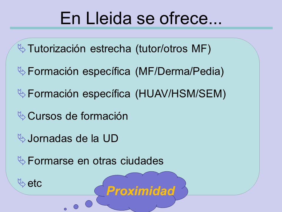 En Lleida se ofrece...