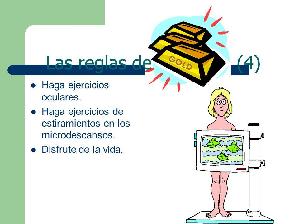Haga ejercicios oculares. Haga ejercicios de estiramientos en los microdescansos.