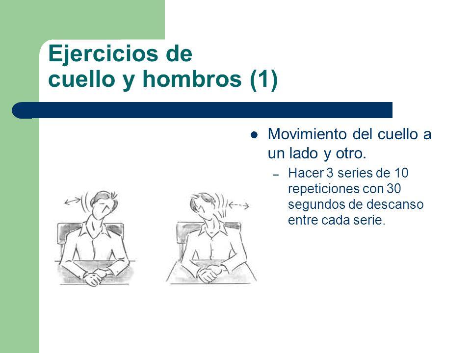 Ejercicios de cuello y hombros (1) Movimiento del cuello a un lado y otro.