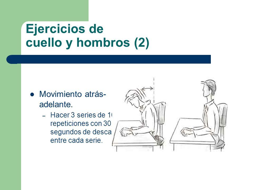Ejercicios de cuello y hombros (2) Movimiento atrás- adelante.