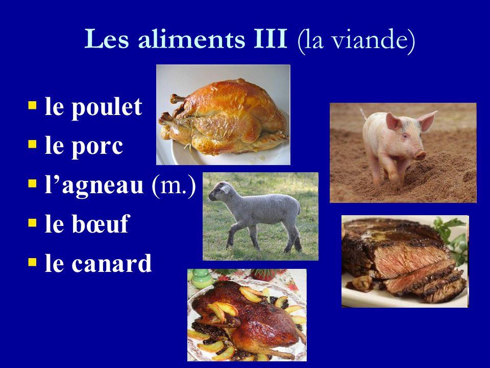Les aliments III (les poissons et les fruits de mer) ll e saumon ll a moule ll a carpe ll es huîtres ll a crevette
