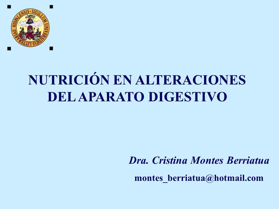 Educación nutricional MÓDULO 3.- NUTRICIÓN EN ALTERACIONES DEL APARATO DIGESTIVO.