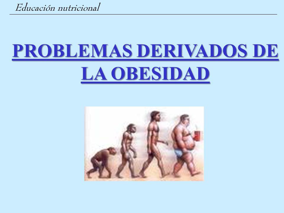 Educación nutricional PROBLEMAS DERIVADOS DE LA OBESIDAD