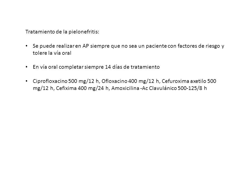 Clasificación de las Prostatitis: 1.Tipo I: prostatitis bacteriana aguda 2.Tipo II: prostatitis bacteriana crónica.
