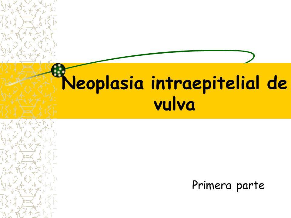 Carcinoma de células basales 2% de los canceres de vulva Postmenopausicas caucasicas Es localmente invasivo y generalmente no mtts Se presenta como úlcera de bordes sobreelevados de color perlado o gris.