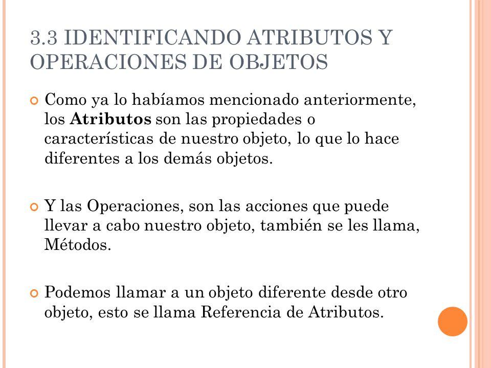 Como ya lo habíamos mencionado anteriormente, los Atributos son las propiedades o características de nuestro objeto, lo que lo hace diferentes a los demás objetos.