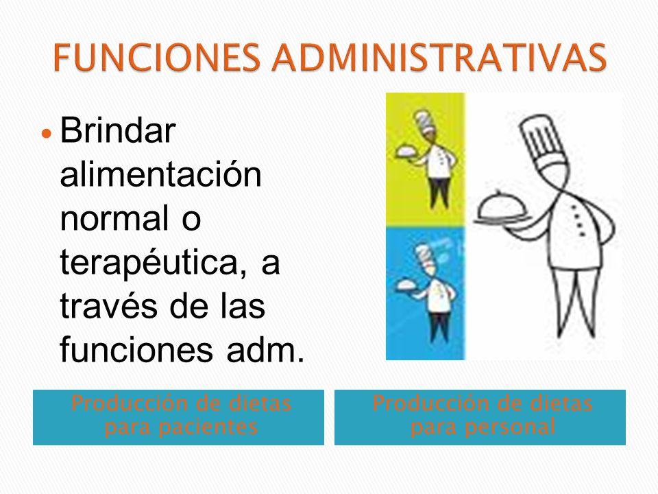 Se dedica al manejo dietoterápico del pacientes hospitalizado o ambulatorio, que precisan dietas terapéuticas, para coadyuvar a su tratamiento médico.