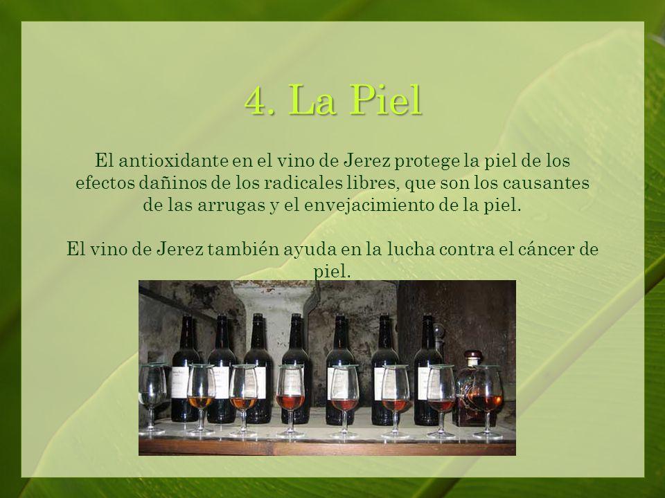 El vino de Jerez contiene antioxidantes conocidos como polifenoles que atacan a los radicales libres.