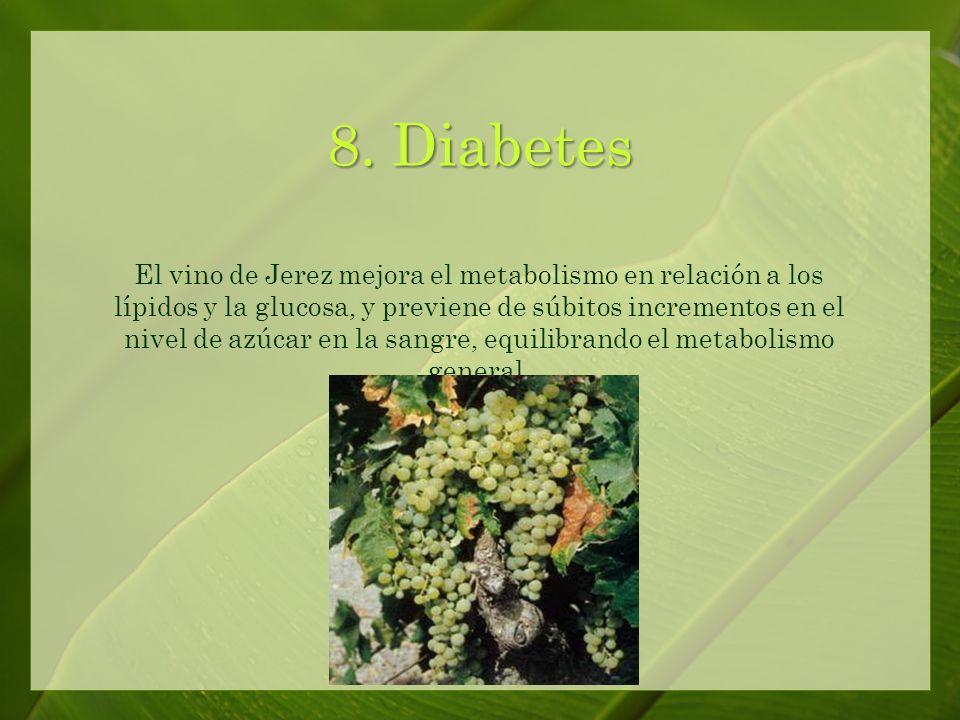 7. Colesterol El vino de Jerez ayuda a reducir el nivel de colesterol.