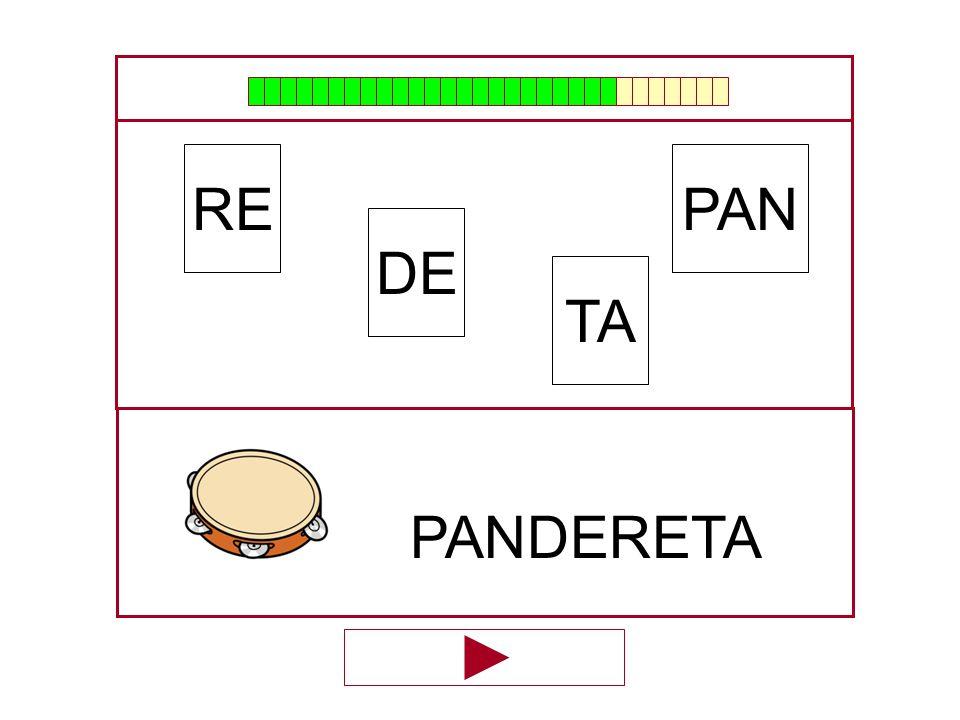 PAN DE RE TA …PANDERE…