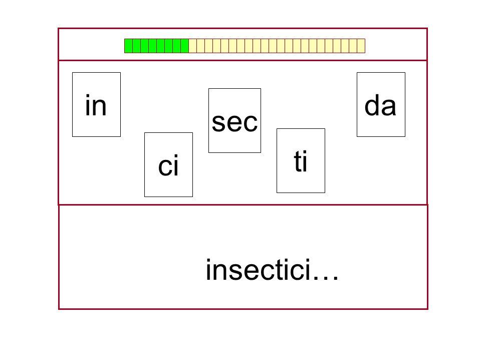da sec ci ti …insecti… in
