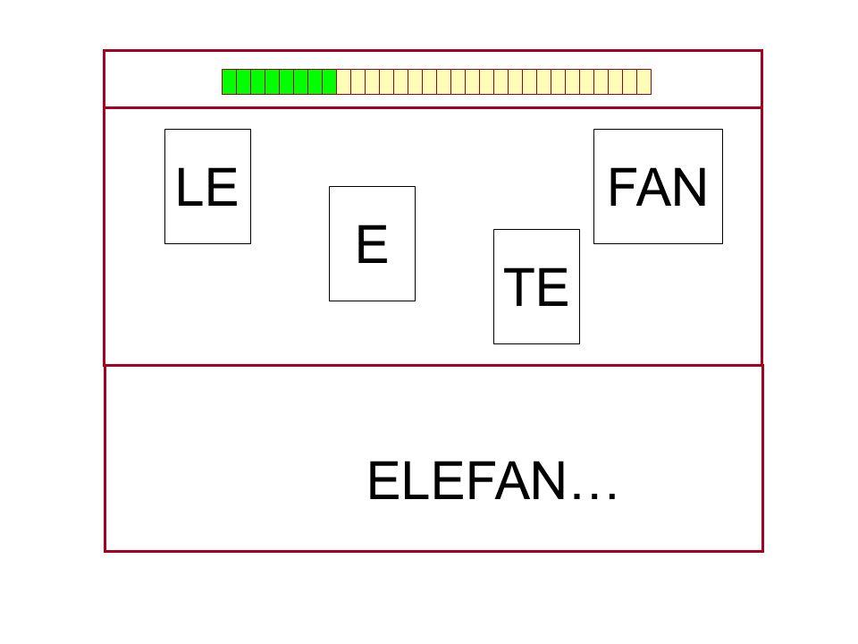 FAN E LE TE …ELE…