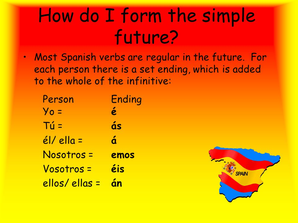 The Simple Future This tense is used to indicate future events, whether in the near or distant future.