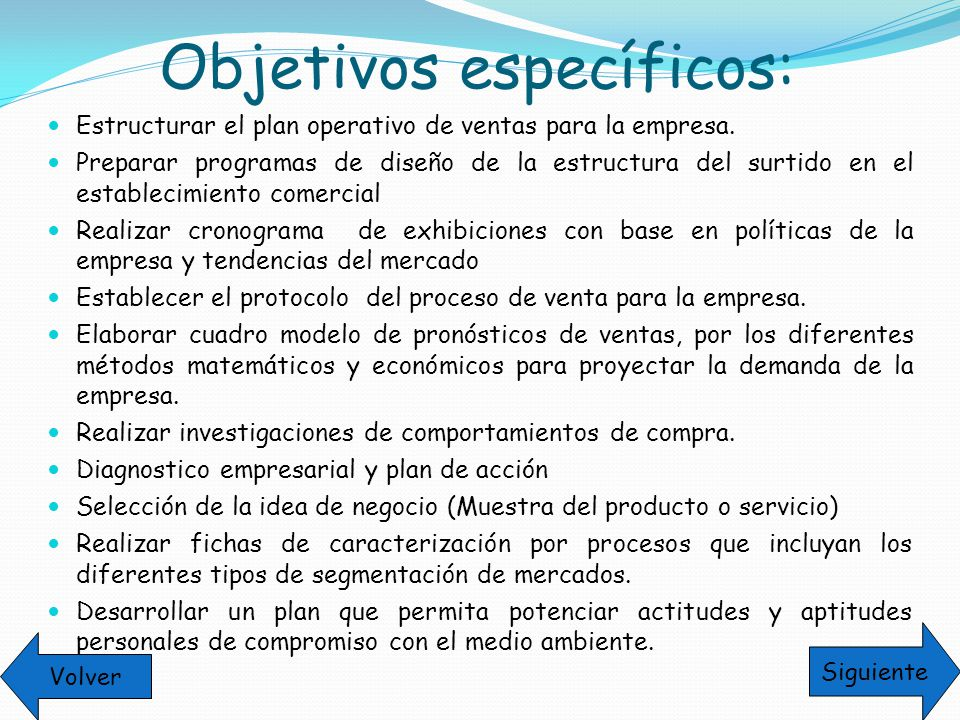 estructura de un plan operativo: