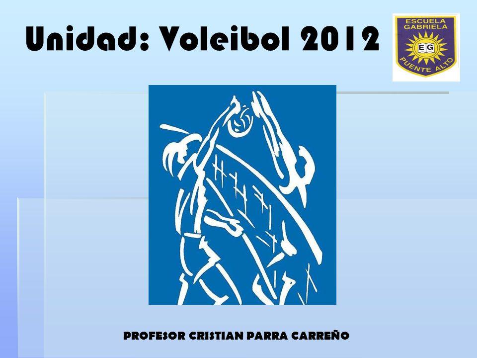 Unidad: Voleibol 2012 PROFESOR CRISTIAN PARRA CARREÑO