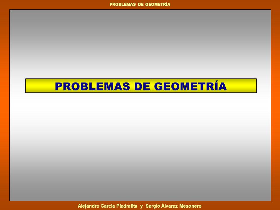 Alejandro García Piedrafita y Sergio Álvarez Mesonero PROBLEMAS DE GEOMETRÍA Dado que la diagonal de 8 cm.