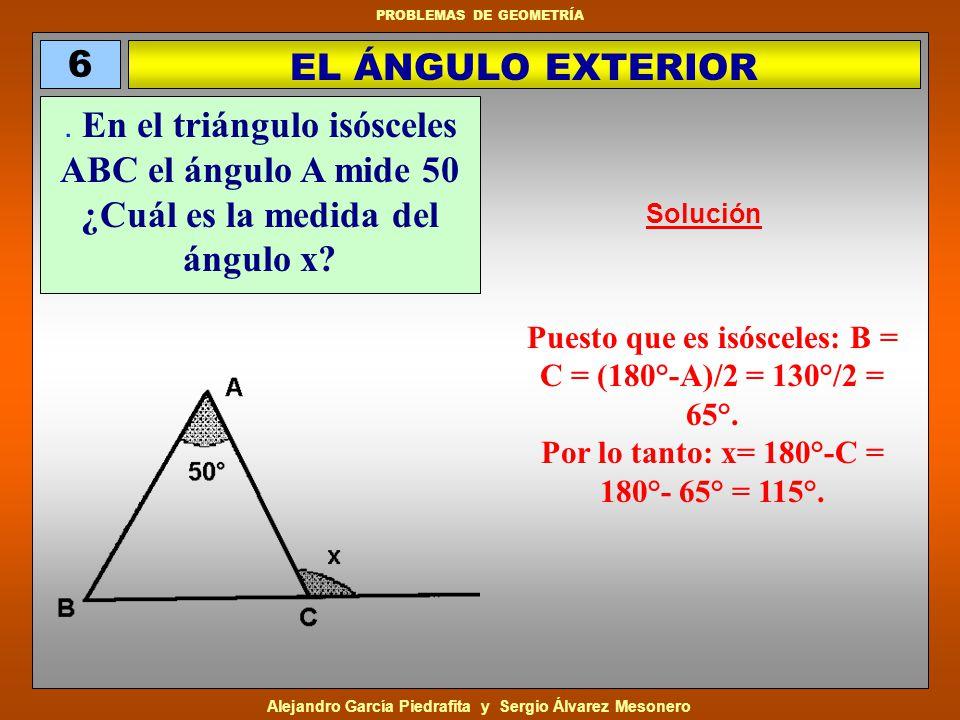 Alejandro García Piedrafita y Sergio Álvarez Mesonero PROBLEMAS DE GEOMETRÍA Tenemos dos cuadrados iguales superpuestos, de manera que un vértice de uno está siempre en el centro del otro.