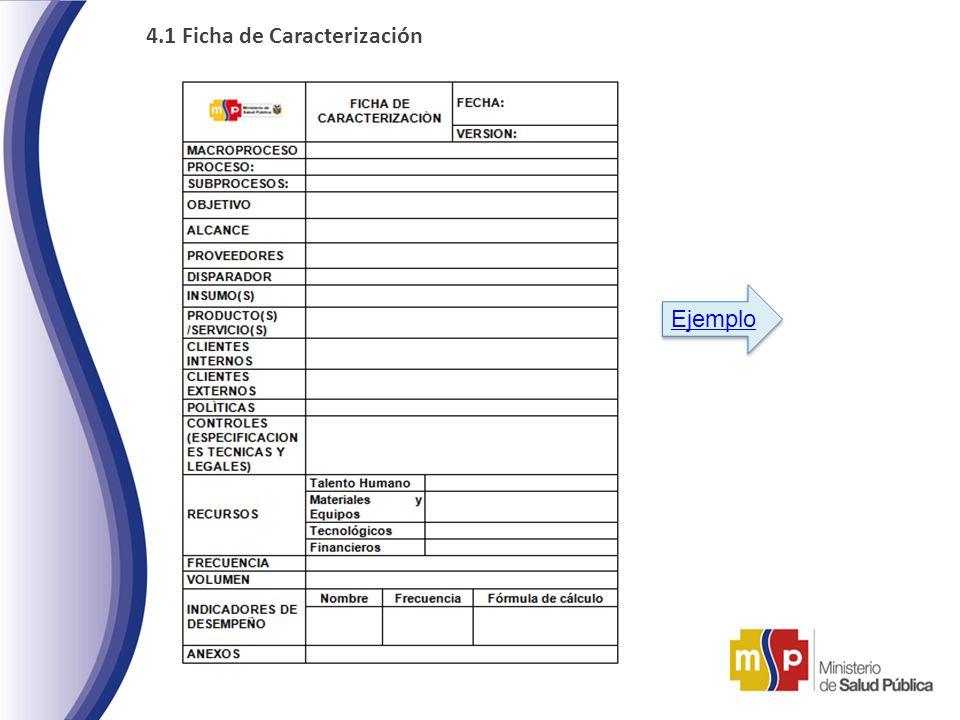 4.1 Ficha de Caracterización Ejemplo