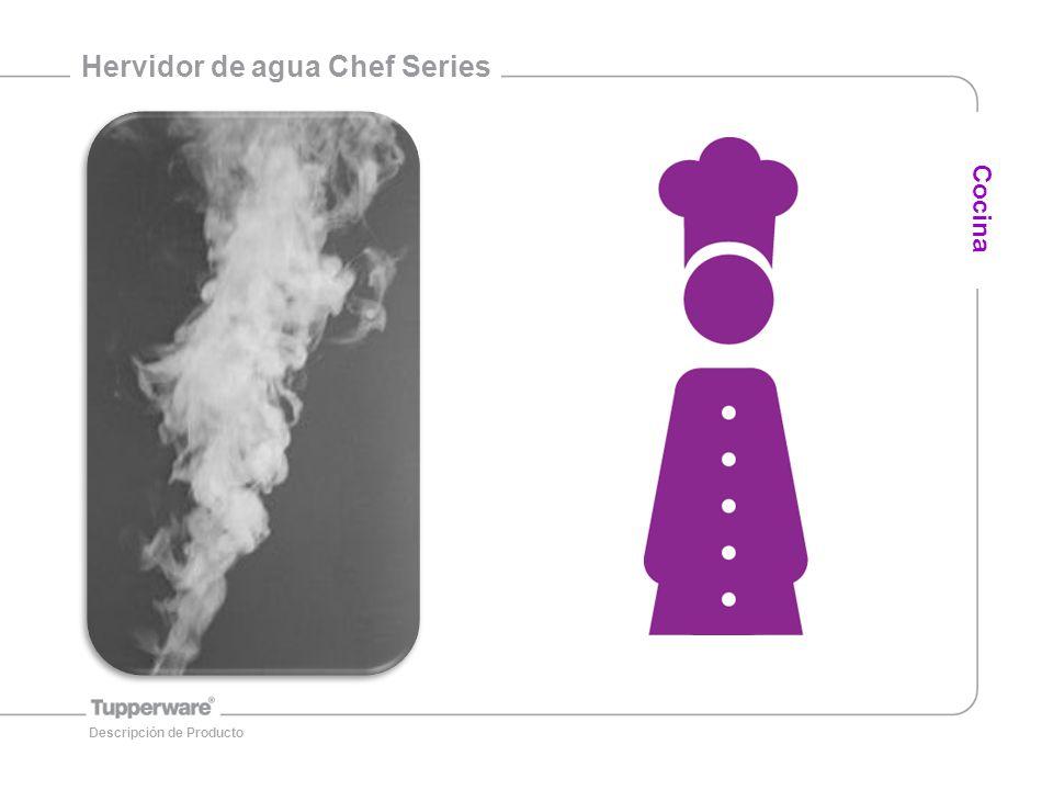 12 Información General DescripciónMedidas Hervidor de Agua Chef Series25.3 (L) x 20.2 (w) x 21.6 (h) cm Cocina Descripción de Producto