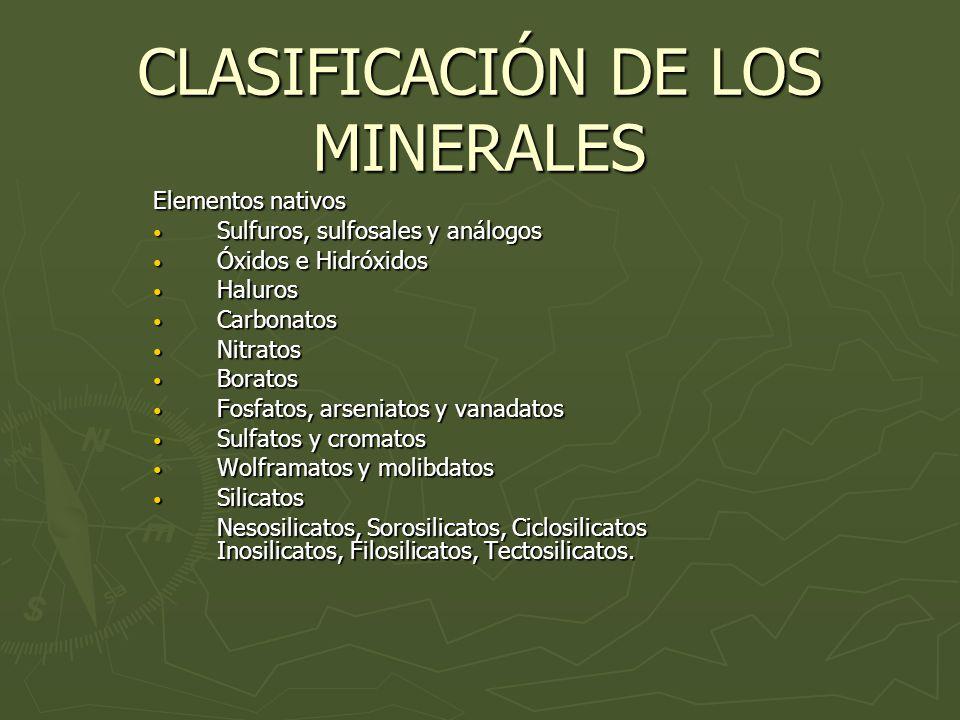 Clasificacin de los minerales elementos nativos sulfuros 1 clasificacin de los minerales elementos urtaz Image collections
