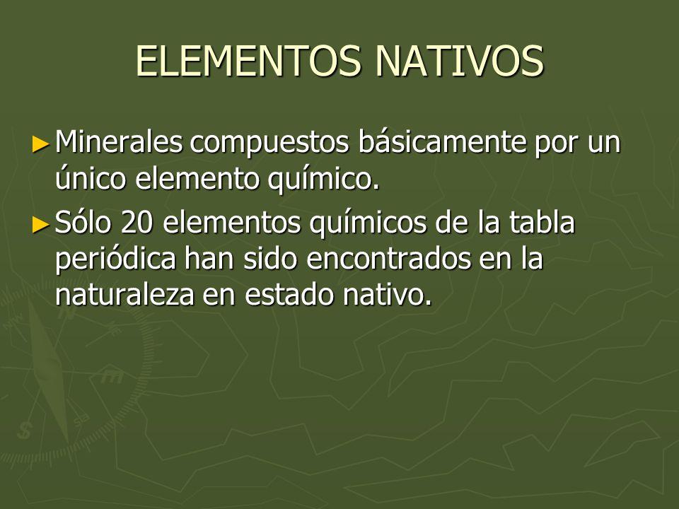 Clasificacin de los minerales elementos nativos sulfuros 2 elementos urtaz Image collections