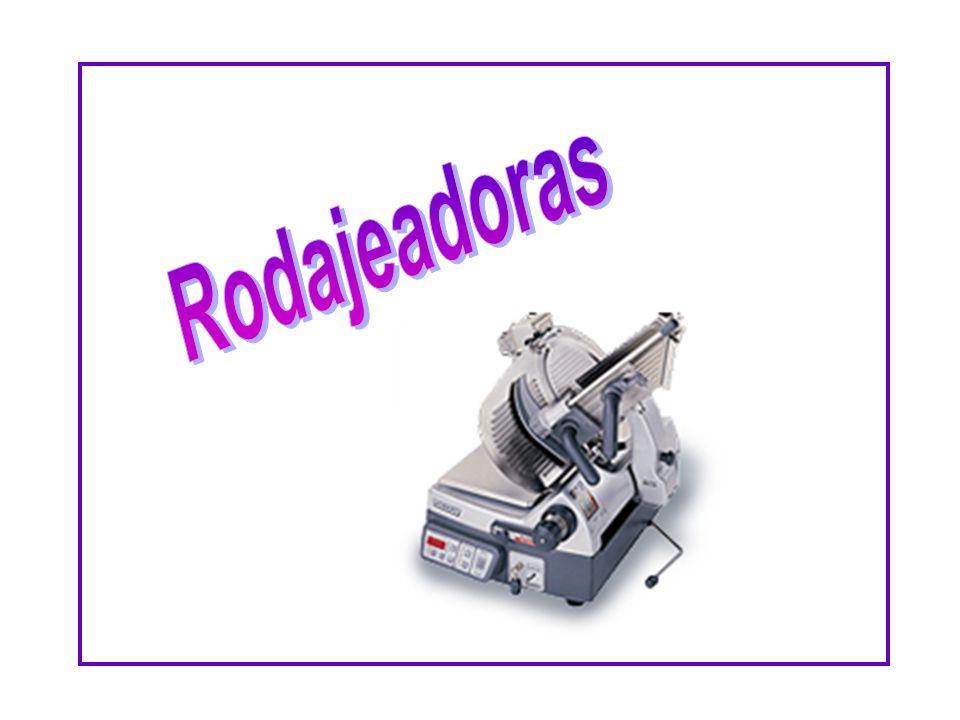 Cuando este operando o limpiando una rodajeadora, DEBE ponerse un guante especial de fibras metálicas.