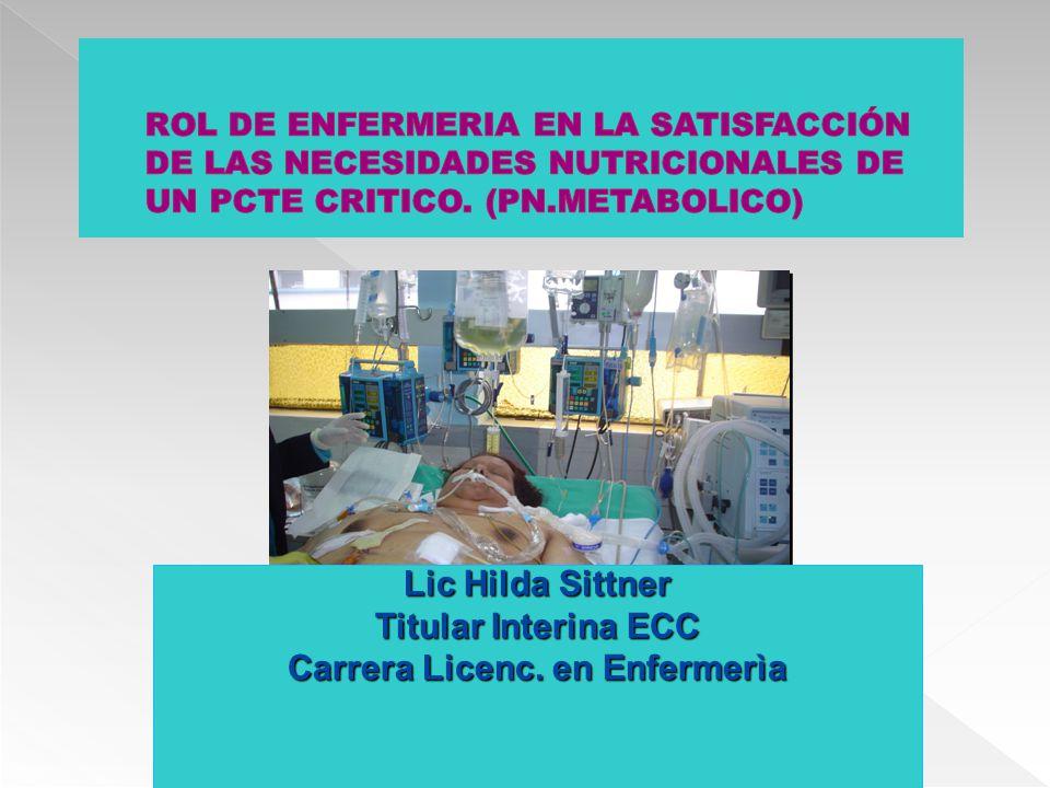 Lic Hilda Sittner Titular Interina ECC Carrera Licenc. en Enfermerìa