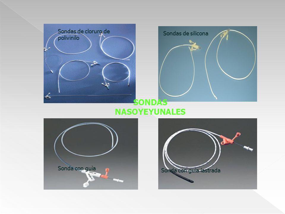 Sondas de cloruro de polivinilo Sondas de silicona SONDAS NASOYEYUNALES Sonda con guìa Sonda con guìa lastrada