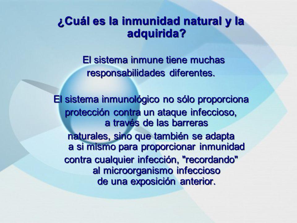 ¿Cuál es la inmunidad natural y la adquirida.