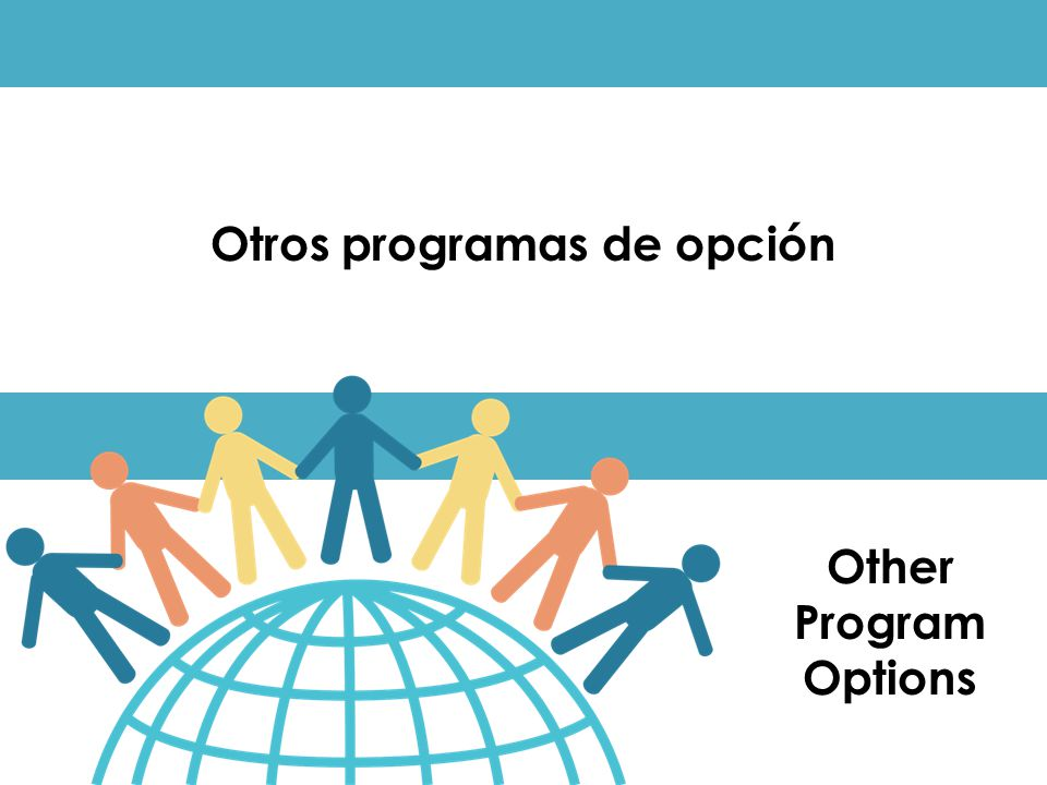 Otros programas de opción Other Program Options