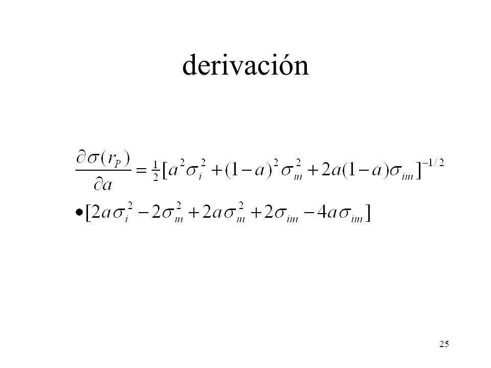 25 derivación