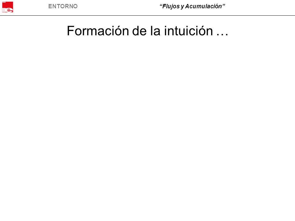 ENTORNO Flujos y Acumulación Formación de la intuición …