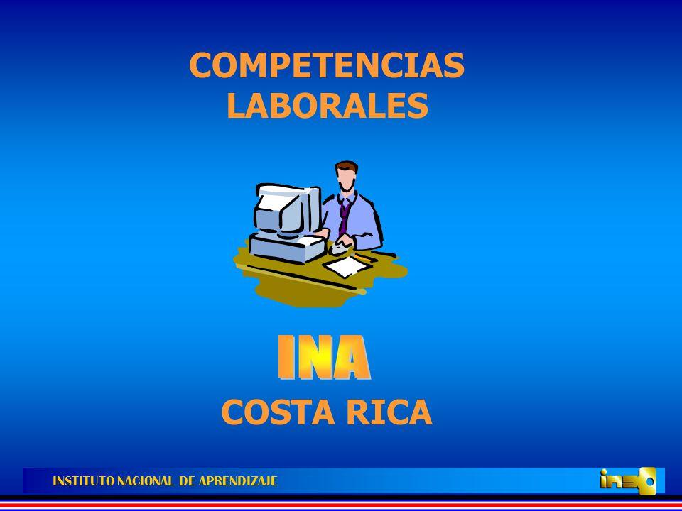 INSTITUTO NACIONAL DE APRENDIZAJE CONCEPTOS DE COMPETENCIA LABORAL Y DE NORMA DE COMPETENCIA LABORAL 1.