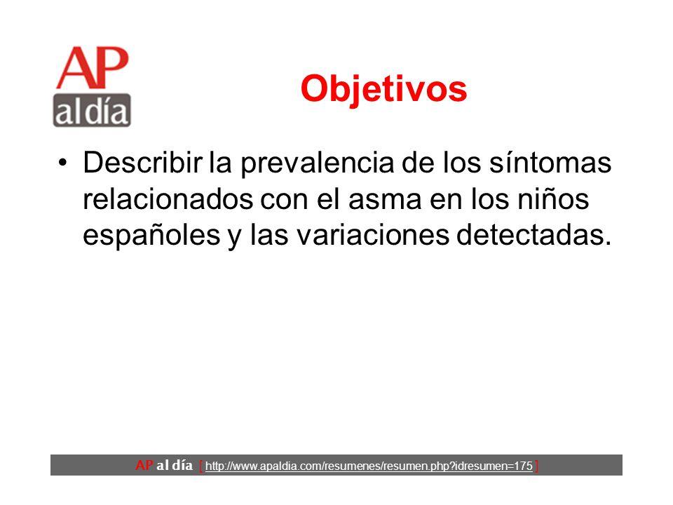 Epidemiología del asma infantil en España Carvajal-Urueña I, García ...