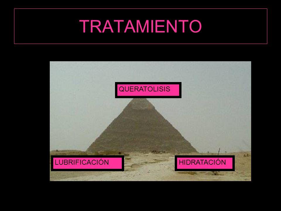 TRATAMIENTO HIDRATACIÓNLUBRIFICACIÓN QUERATOLISIS