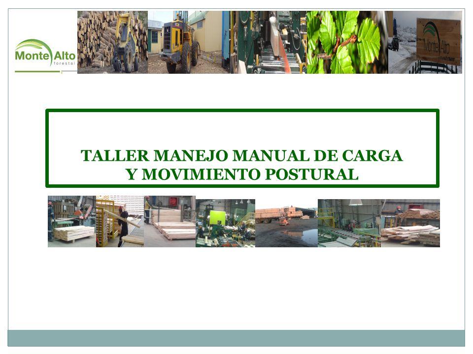 TALLER MANEJO MANUAL DE CARGA Y MOVIMIENTO POSTURAL
