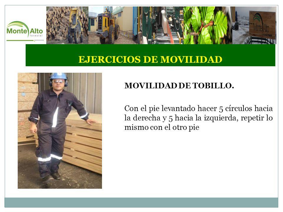 EJERCICIOS DE MOVILIDAD MOVILIDAD DE TOBILLO.