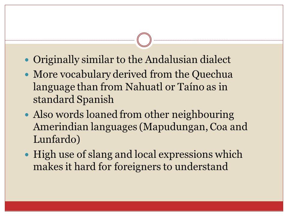 Quechua Language Words from the Quechua language