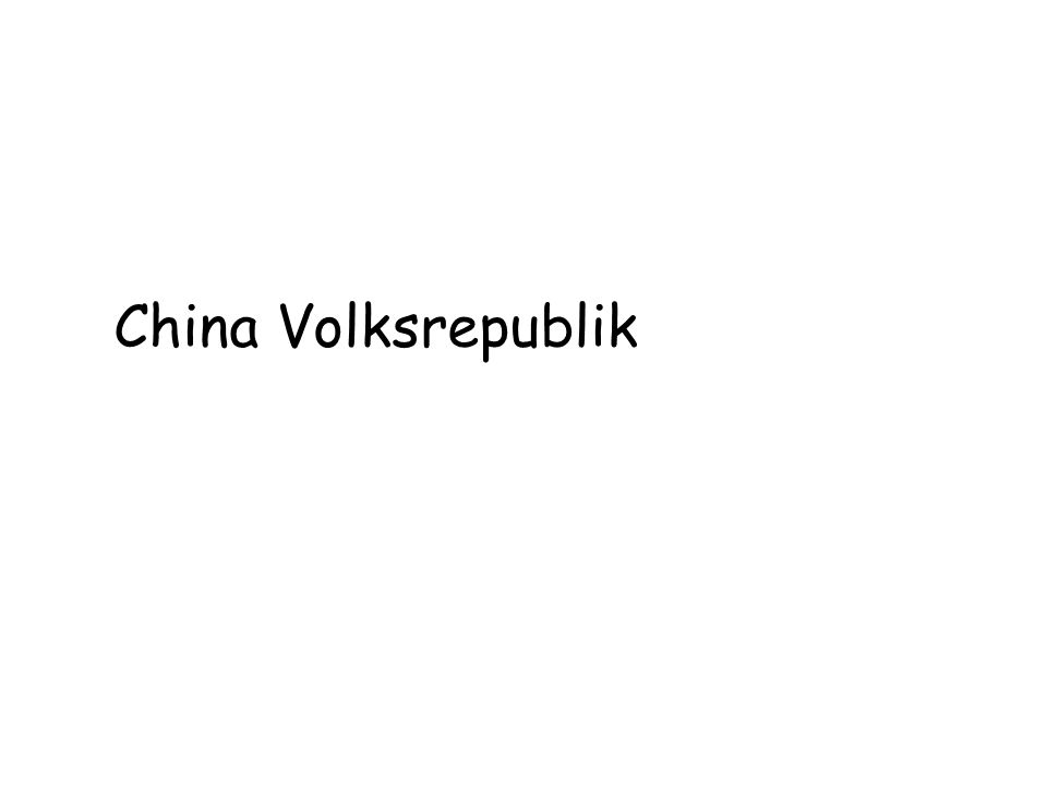 China Volksrepublik