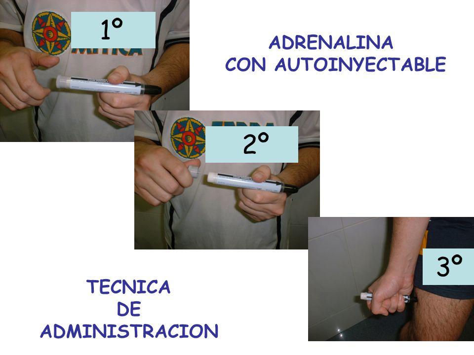 1º 3º 2º ADRENALINA CON AUTOINYECTABLE TECNICA DE ADMINISTRACION