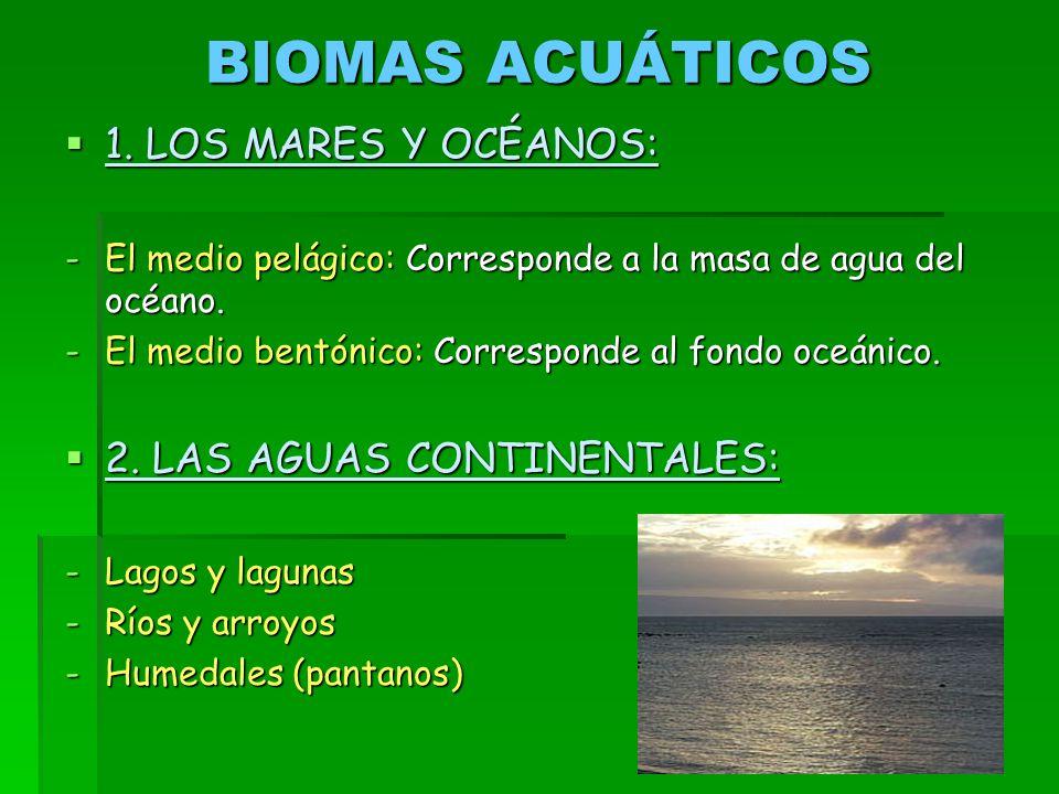 BIOMAS ACUÁTICOS  1.