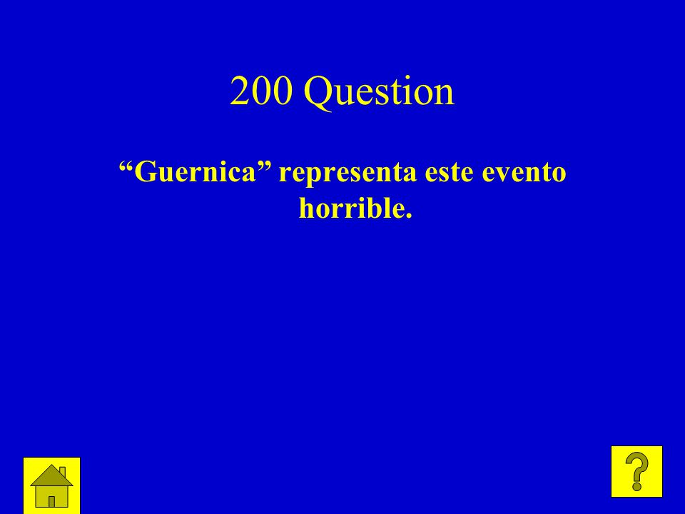 200 Question Guernica representa este evento horrible.