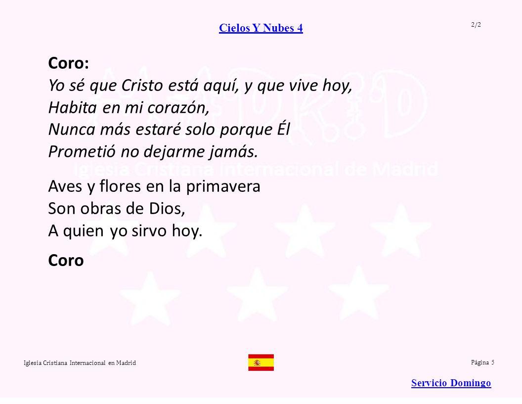 Iglesia Cristiana Internacional en Madrid Soy feliz...